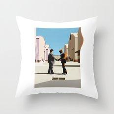 Wish you were flat Throw Pillow