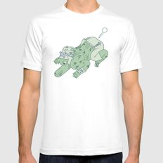 wazmunster poot poot  Mens Fitted Tee SMALL White