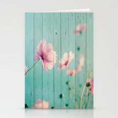 Sweet Flowers on Wood 07 Stationery Cards