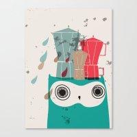 Owl Aloud Canvas Print