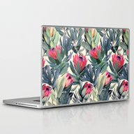 Laptop & iPad Skin featuring Painted Protea Pattern by Micklyn