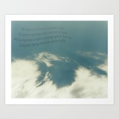 Given to Fly - Pearl Jam Art Print