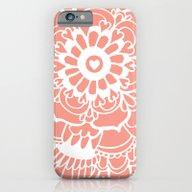 Coral Lacework Doodle iPhone 6 Slim Case