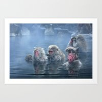 Bathing ALF Art Print