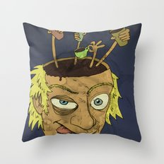One more cup of coffee 'fore I go to the valley below Throw Pillow