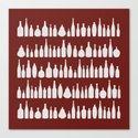 Bottles Red Canvas Print