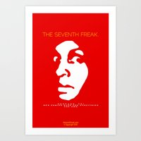 Art Print featuring The Freaky Red Poster by Ed J.