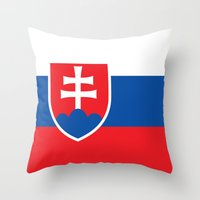 National flag of Slovakia Throw Pillow