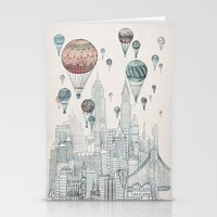 nyc Stationery Cards featuring Voyages Over New York by David Fleck