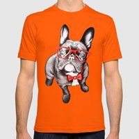 Happy Dog Mens Fitted Tee Orange SMALL