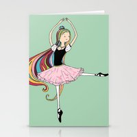 Colorful Ballerina Stationery Cards