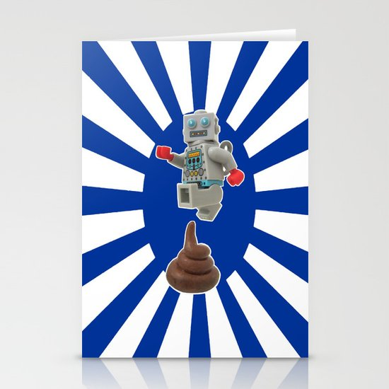 Poo jumping Stationery Card