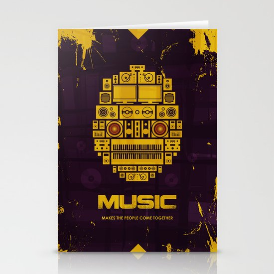 Music Stationery Card