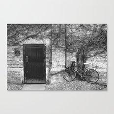 Door & Bicycle Canvas Print