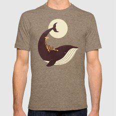 The Giraffe & the Whale Mens Fitted Tee Tri-Coffee SMALL