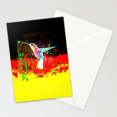 digital hummingbird & (germany Flag) Stationery Cards