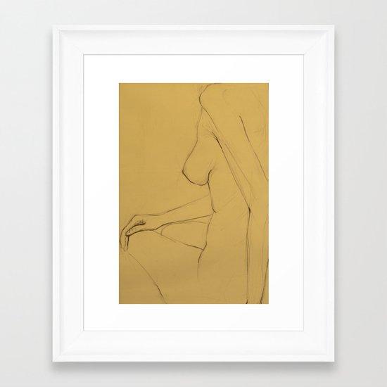 The Thin Woman Framed Art Print