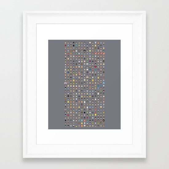 The movie Capsules Framed Art Print
