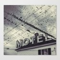 The Bird Motel Canvas Print