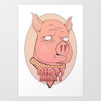 Dirty Meat Art Print