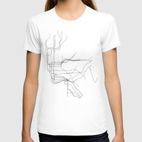 New York Subway Womens Fitted Tee White SMALL