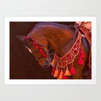 Arabian Horse national costume Art Print