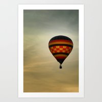 Floating Into The Sunset Art Print