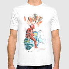 At the Lights  Mens Fitted Tee White SMALL