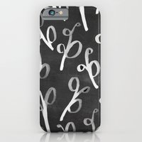 iPhone & iPod Case featuring Leaves Chalkboard by Jen Posford