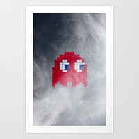 Pac-Man Red Ghost Art Print
