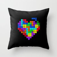 The Game of Love -Dark version Throw Pillow