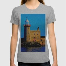 Howth Lighthouse Morning Womens Fitted Tee Athletic Grey SMALL