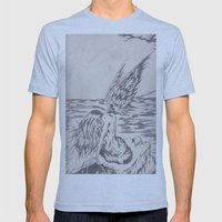 angel on rocks Mens Fitted Tee Athletic Blue SMALL