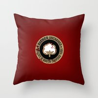 Minimal movie cover: Django Unchained Throw Pillow