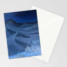 Late night on the mountain  Stationery Cards