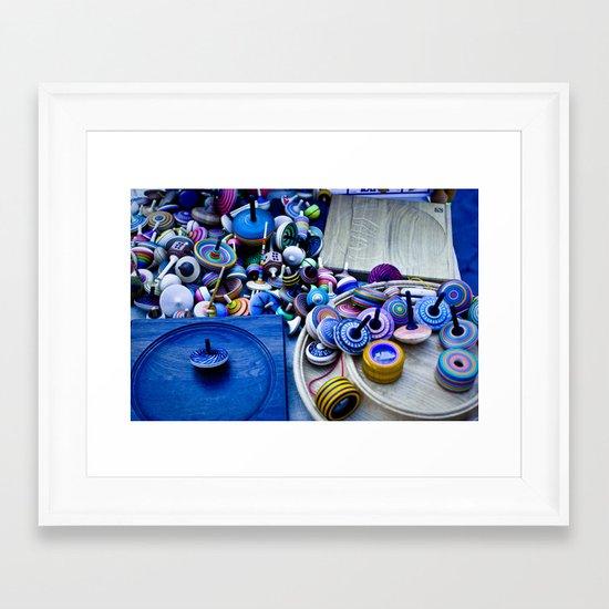 Spinners Framed Art Print