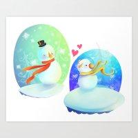 No love like snow love Art Print