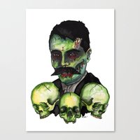 Zombie Emilliano  Canvas Print