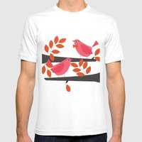 Two Little Birds Mens Fitted Tee White SMALL