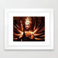 durga, indian goddess Framed Art Print