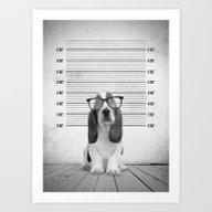 Guilty Puppy Art Print