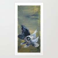 Bubble Eyed Goldfish III Art Print