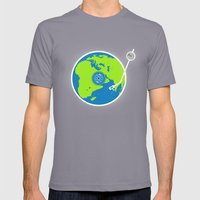 Music Makes The World Go… Mens Fitted Tee Slate SMALL