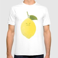 Bitter Lemon Mens Fitted Tee White SMALL