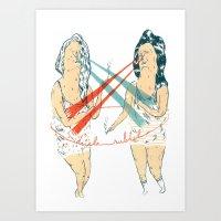 Subtle Duel Art Print