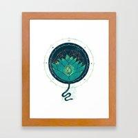 Blue Lotus Framed Art Print