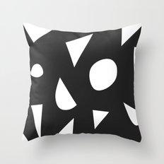 Boom on Black Throw Pillow