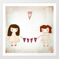 Love Garland Art Print