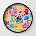sweet bots Wall Clock