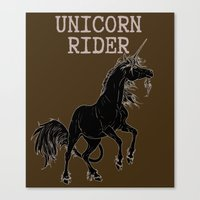 Unicorn rider Canvas Print